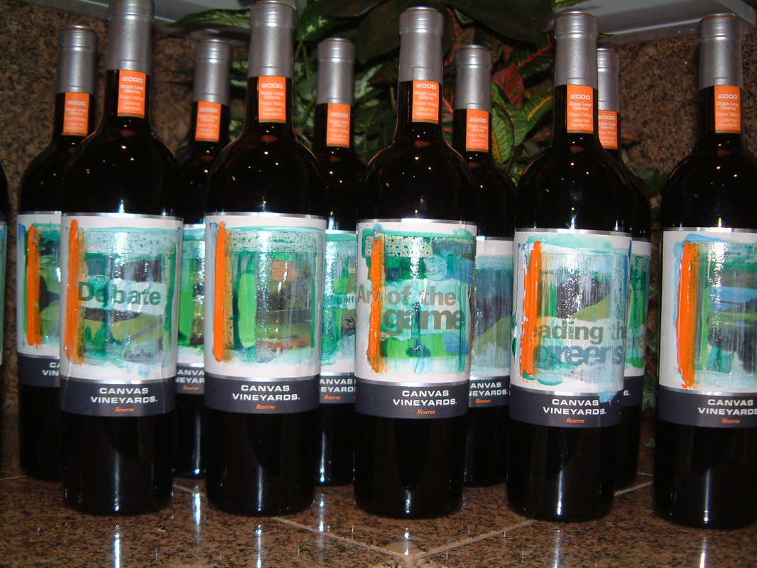 Canvas Vineyards creates custom wine labels.